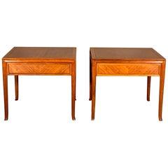 Pair of T.H.Robsjohn-Gibbings Side Tables for Baker