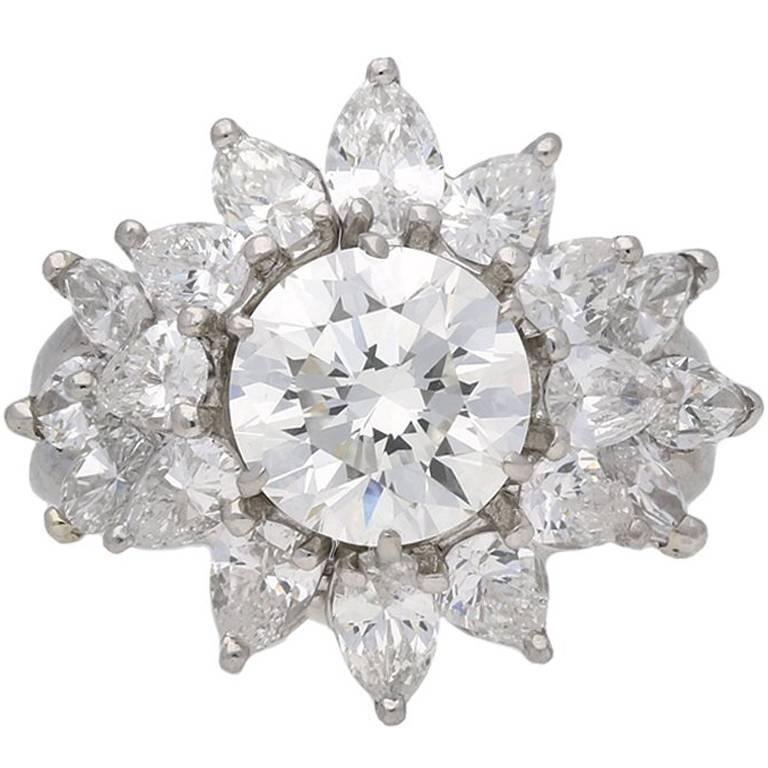 Pair of Tiffany & Co. Vintage Diamond Rings, circa 1960
