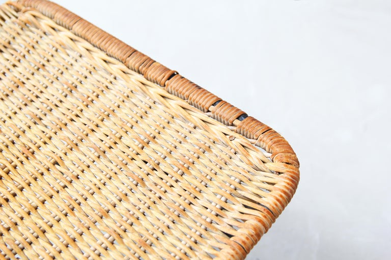 Pair of Rattan Lounge Chairs by Carlo Hauner & Martin Eisler For Sale 6