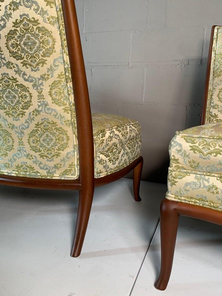 Pair of Unusual Slipper Chairs by T.H. Robsjohn-Gibbings Widdicomb, circa 1950s For Sale 5