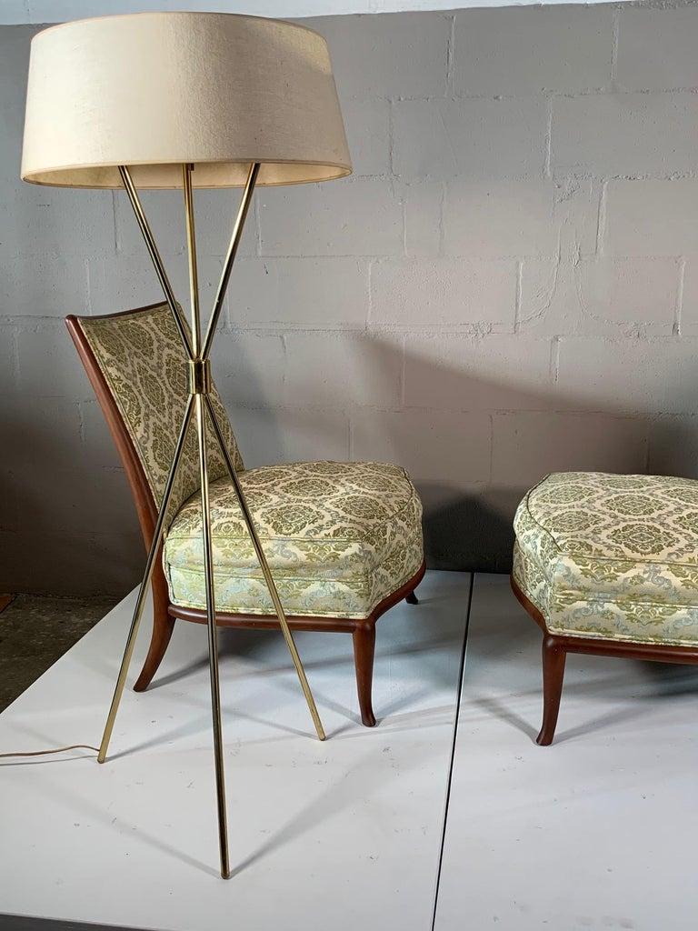 Pair of Unusual Slipper Chairs by T.H. Robsjohn-Gibbings Widdicomb, circa 1950s For Sale 6