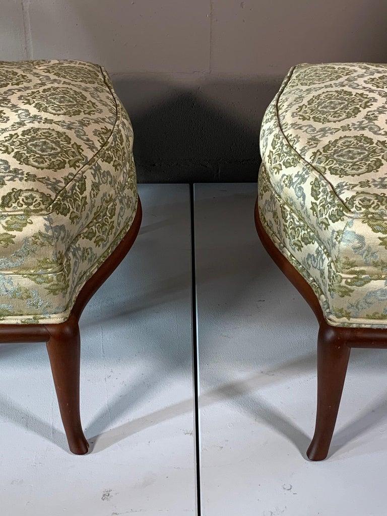Pair of Unusual Slipper Chairs by T.H. Robsjohn-Gibbings Widdicomb, circa 1950s For Sale 7