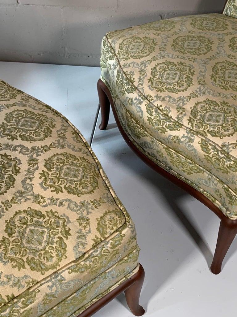 American Pair of Unusual Slipper Chairs by T.H. Robsjohn-Gibbings Widdicomb, circa 1950s For Sale