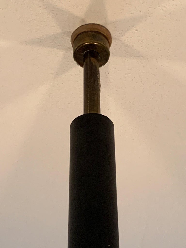 Mid-Century Modern Pair of Unusual Tension Pole Lamps For Sale