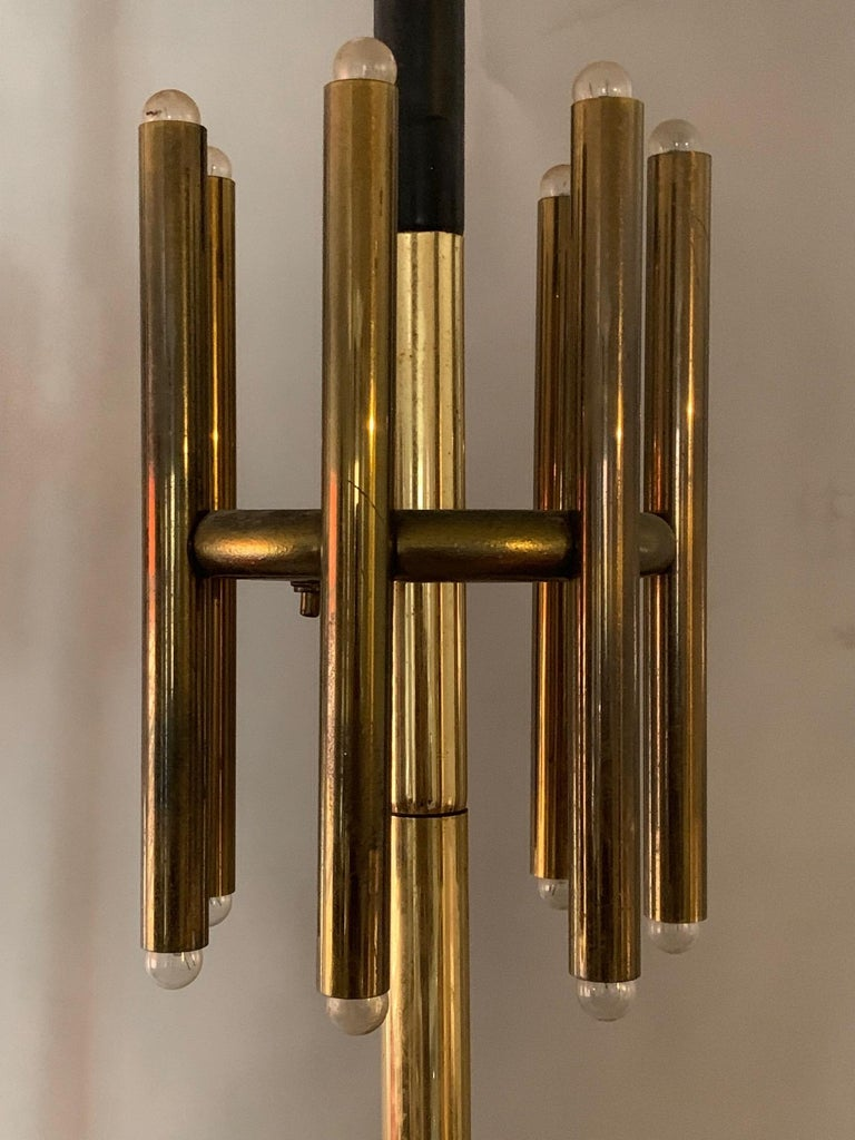 Pair of Unusual Tension Pole Lamps In Good Condition For Sale In St.Petersburg, FL