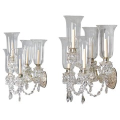 Pair of Mid-19th Century Victorian Cut-Glass Wall Lights
