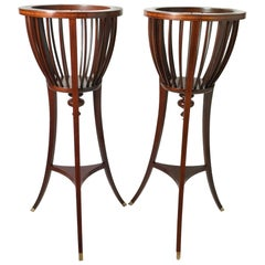 Pair of Vintage Baker Mahogany Plant Stands