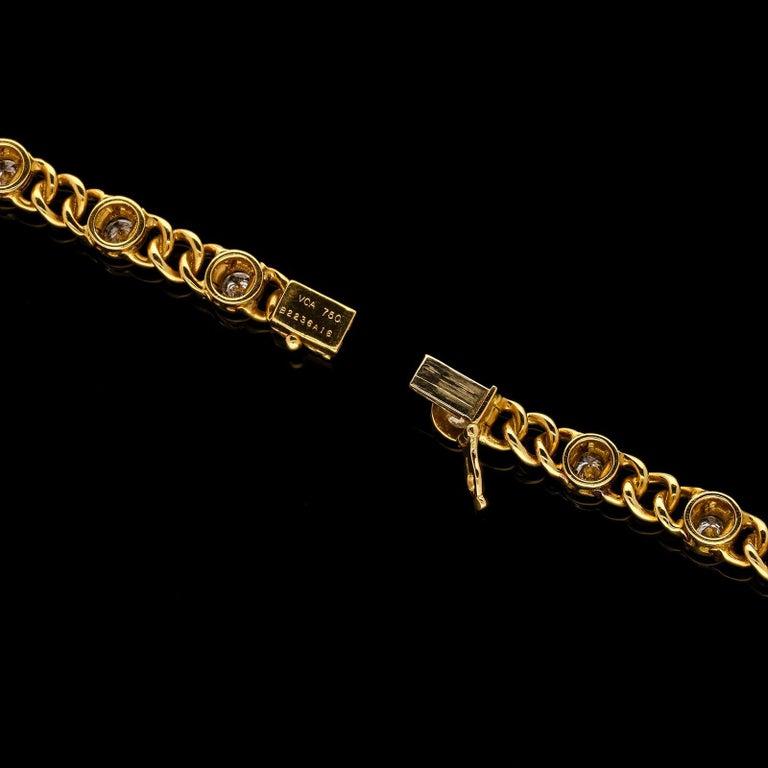 Van Cleef & Arpels Vintage French Gold and Diamond Bracelets c.1970 For Sale 1