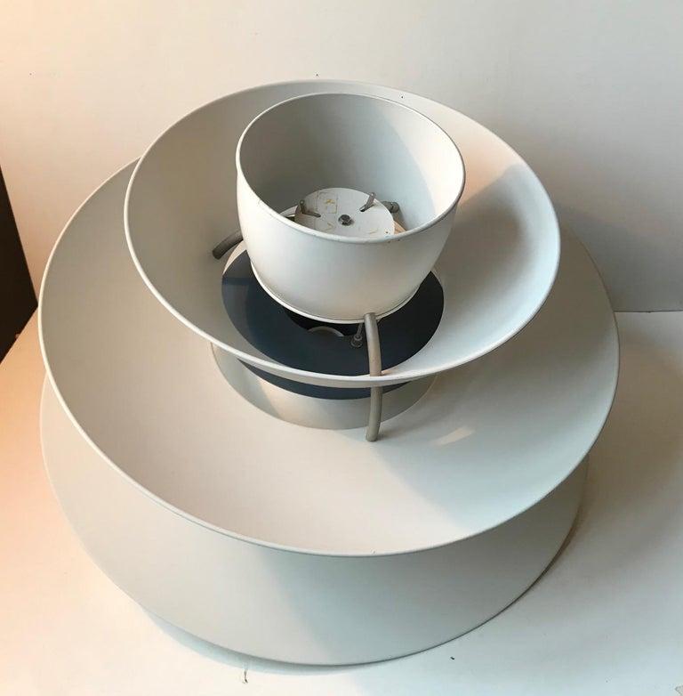 Scandinavian Modern Pair of Vintage PH 5-4.5 White Charlottenborg Ceiling Lamps for Louis Poulsen For Sale