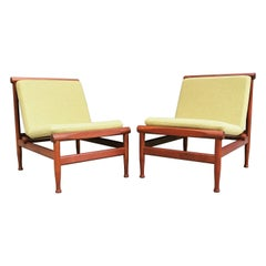 Pair of Vintage Teak Kai Lyngfeldt Larsen Easy Chairs Model 501