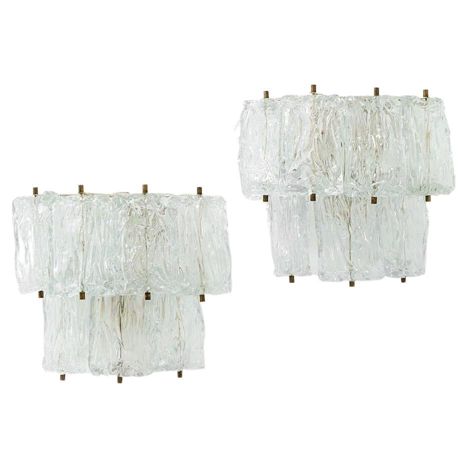 A pair of wall lights by Barovier & Toso
