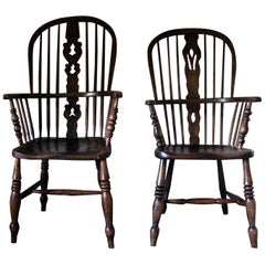 Pair of Windsor Chairs, Pair of Dining Chairs, Pair of Side Chairs, Windsor