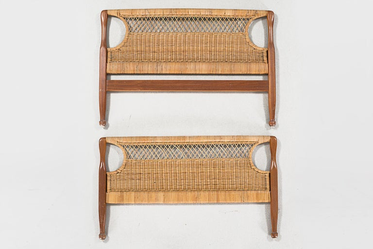 Scandinavian Modern Pair of 20th Century Swedish Headboards by Josef Frank For Sale
