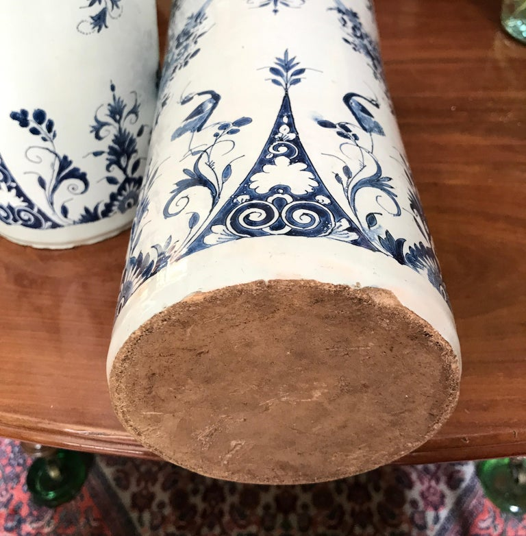 19th Century Pair off Delft Vases, Late 18th Century For Sale