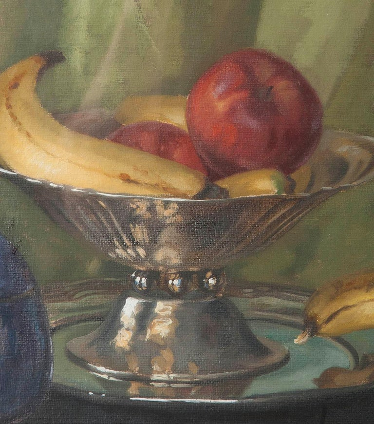 Pair of Oil Paintings, Still Life with Fruit by Eddy Passauro, Dated 1932 For Sale 4