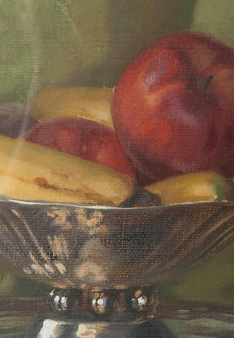 Pair of Oil Paintings, Still Life with Fruit by Eddy Passauro, Dated 1932 For Sale 7