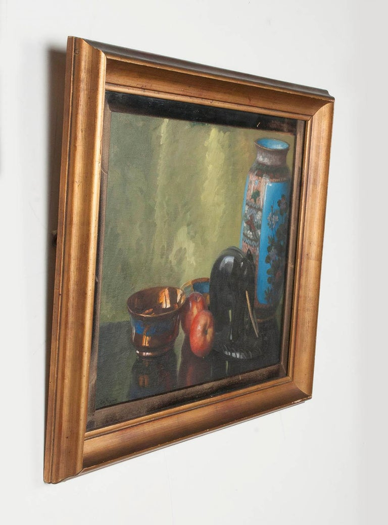 Pair of Oil Paintings, Still Life with Fruit by Eddy Passauro, Dated 1932 For Sale 2