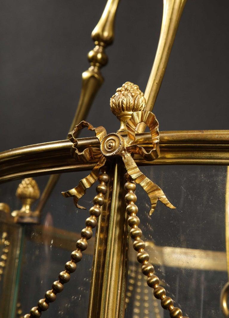 Palatial and Massive Antique French Louis XVI Multi Light Gilt Bronze Lantern For Sale 3