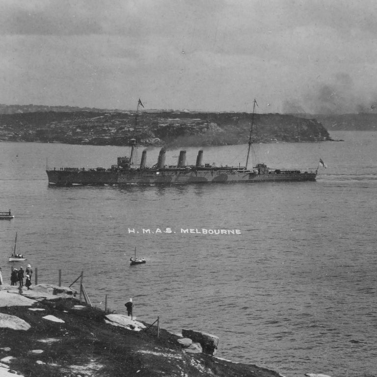 Early 20th Century Panoramic Photograph of the Arrival of the Australian Fleet in Sydney, 1913 For Sale