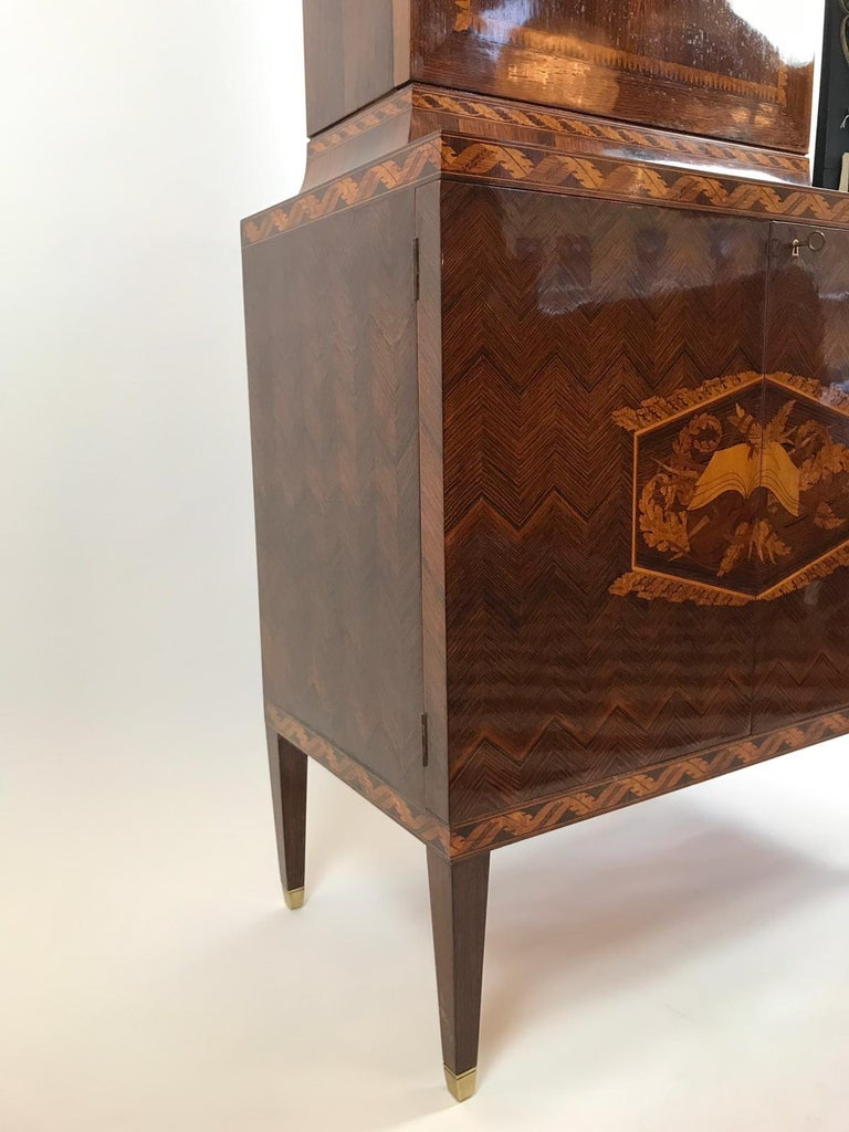 Paolo Buffa 1940s Trumeau Cabinet For Sale 3