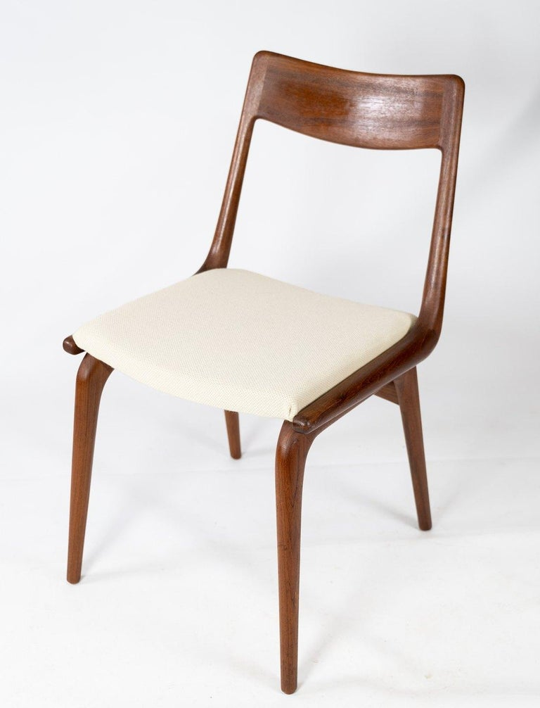 Scandinavian Modern Papir of Dining Chairs, Model Boomerang, by Alfred Christensen, 1960s For Sale