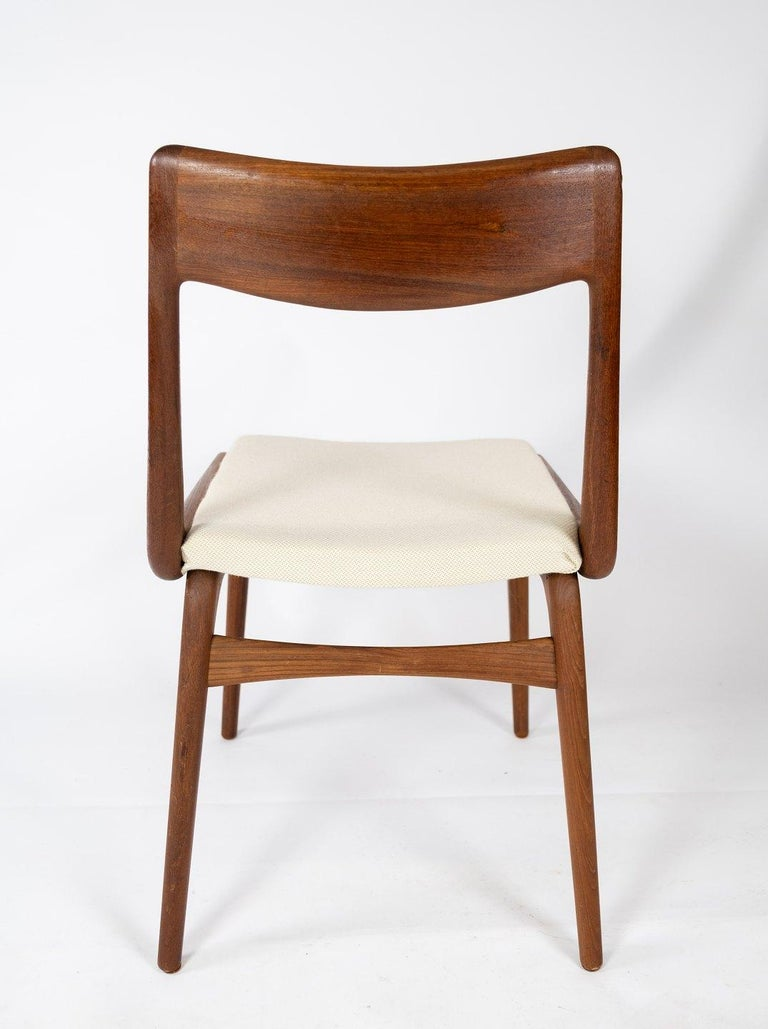Wool Papir of Dining Chairs, Model Boomerang, by Alfred Christensen, 1960s For Sale