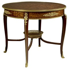 Parquetry Inlaid Centre Table Attributed to François Linke, circa 1900