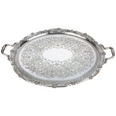 A Particularly Fine Quality Late Nineteenth Century, Large Oval Tray