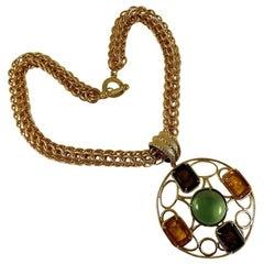 A Patrizia Daliana Bronze Chain with a Murano Glass Pendant