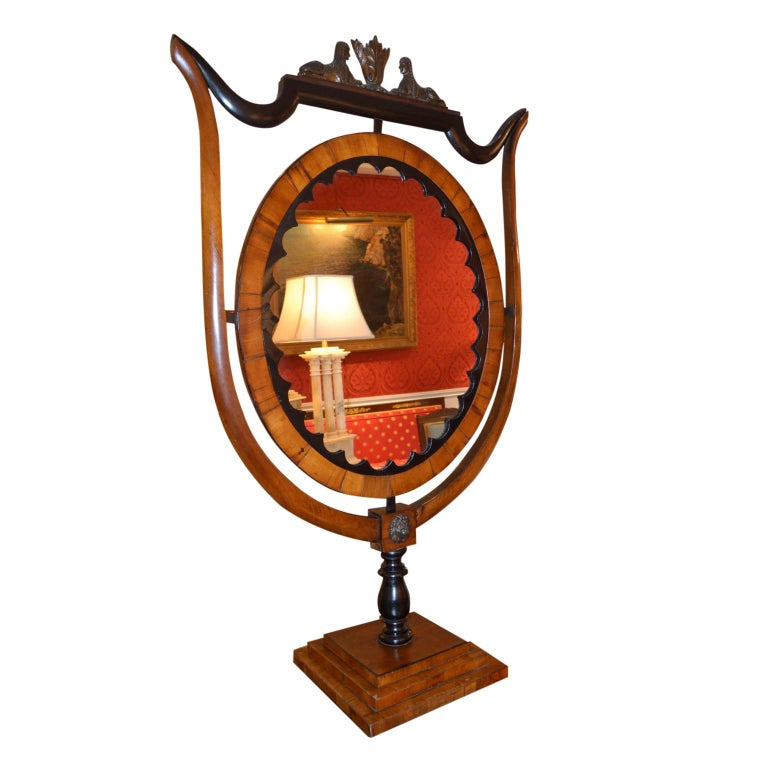 Hand-Crafted Period Austrian Biedermeier Table Mirror For Sale