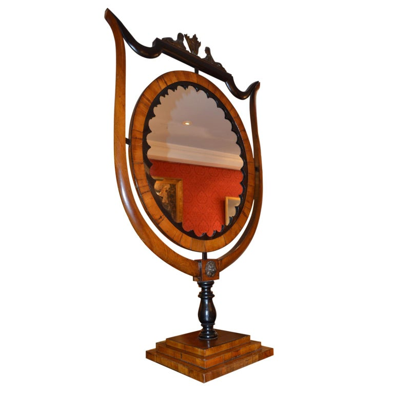 Period Austrian Biedermeier Table Mirror In Good Condition For Sale In Vancouver, British Columbia