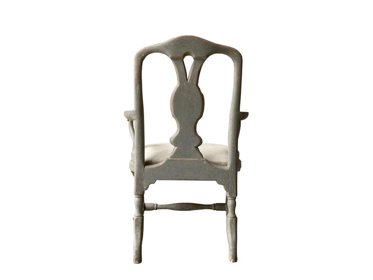 18th Century and Earlier Period Swedish Rococo Armchair For Sale