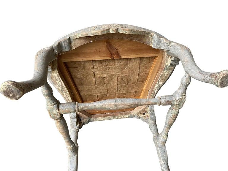 Period Swedish Rococo Armchair For Sale 1