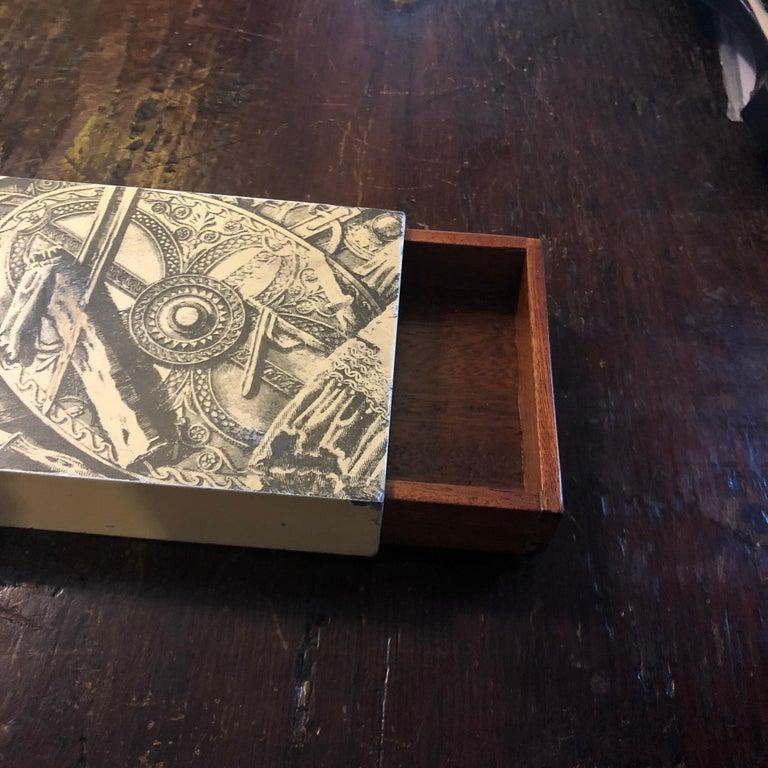 20th Century Piero Fornasetti Mid-Century Modern Italian Cigarette Box, 1950 For Sale