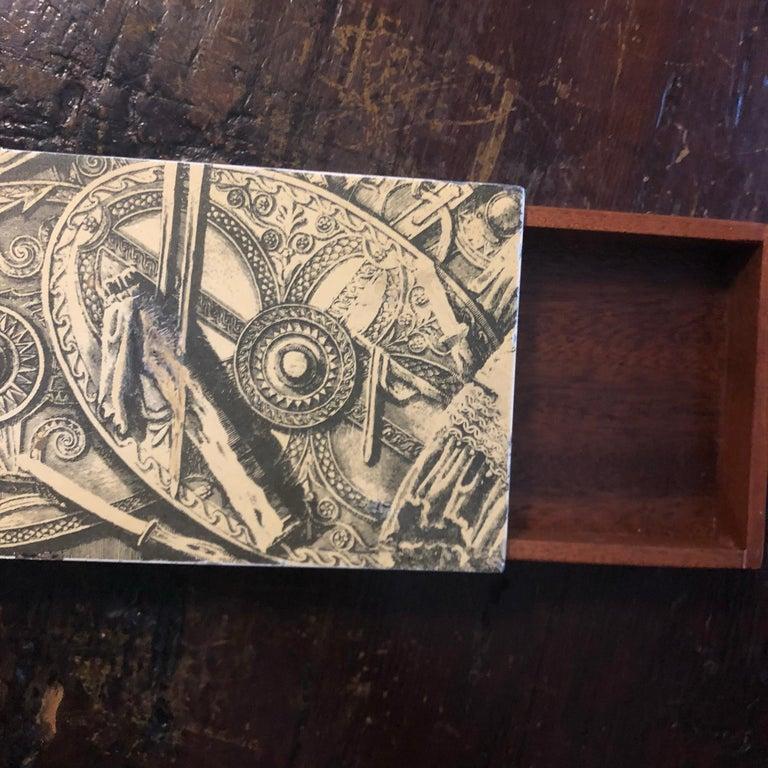 Piero Fornasetti Mid-Century Modern Italian Cigarette Box, 1950 For Sale 2