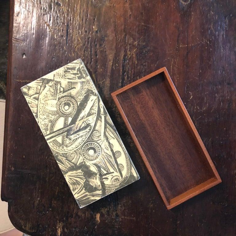 Piero Fornasetti Mid-Century Modern Italian Cigarette Box, 1950 For Sale 4