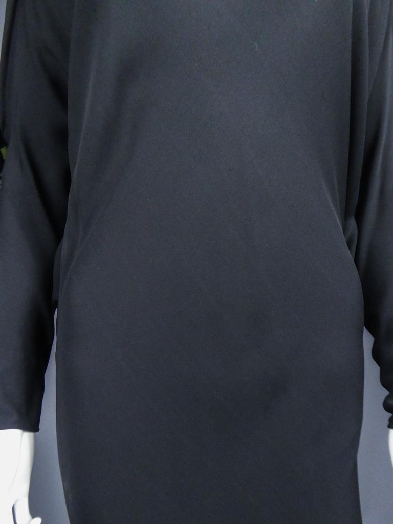A Pierre Cardin Black Couture Jersey Evening Dress Circa 1976/1978 For Sale 1