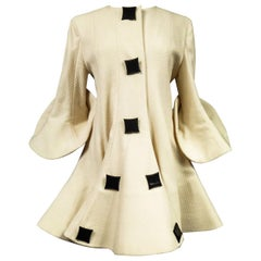 A Pierre Cardin Couture Wool Coat in Corolla Circa 1990 with Provenance