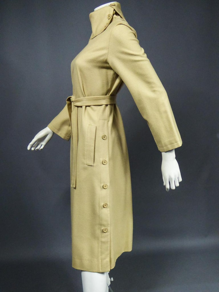 A Pierre Cardin Woollen Dress (attributed to) Circa 1980 For Sale 6