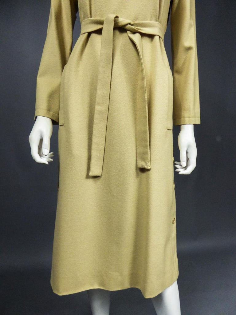 A Pierre Cardin Woollen Dress (attributed to) Circa 1980 For Sale 9