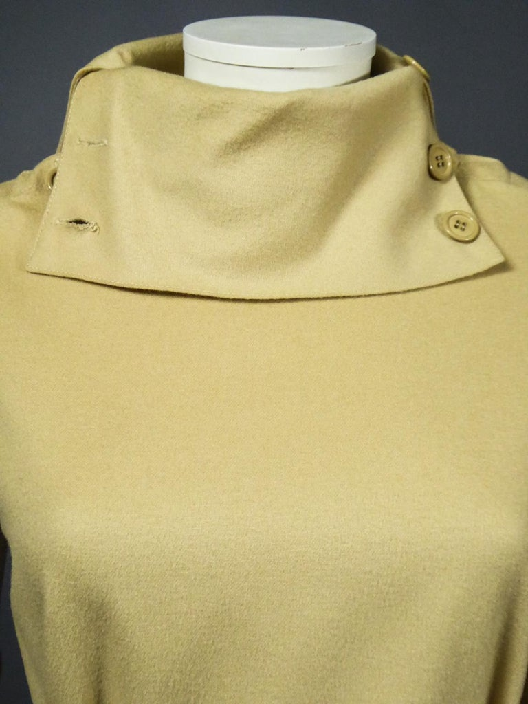 Women's A Pierre Cardin Woollen Dress (attributed to) Circa 1980 For Sale