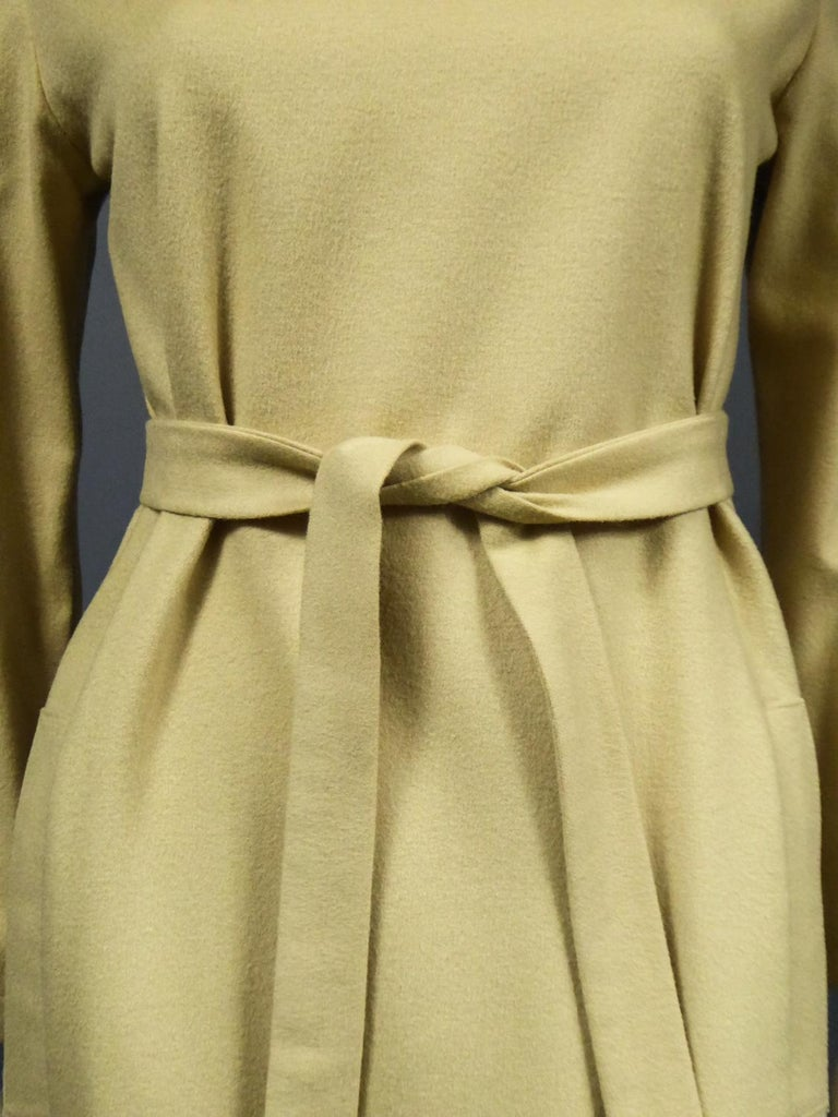 A Pierre Cardin Woollen Dress (attributed to) Circa 1980 For Sale 1