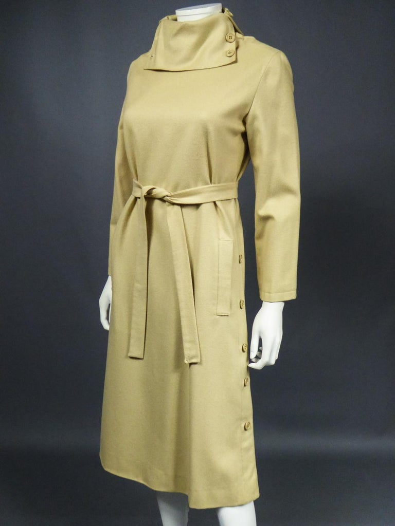 A Pierre Cardin Woollen Dress (attributed to) Circa 1980 For Sale 2