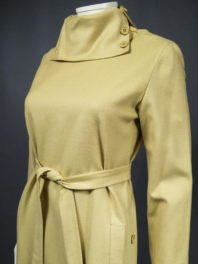 A Pierre Cardin Woollen Dress (attributed to) Circa 1980 For Sale 3