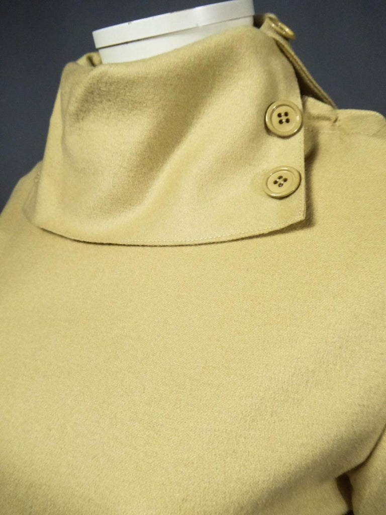 A Pierre Cardin Woollen Dress (attributed to) Circa 1980 For Sale 4