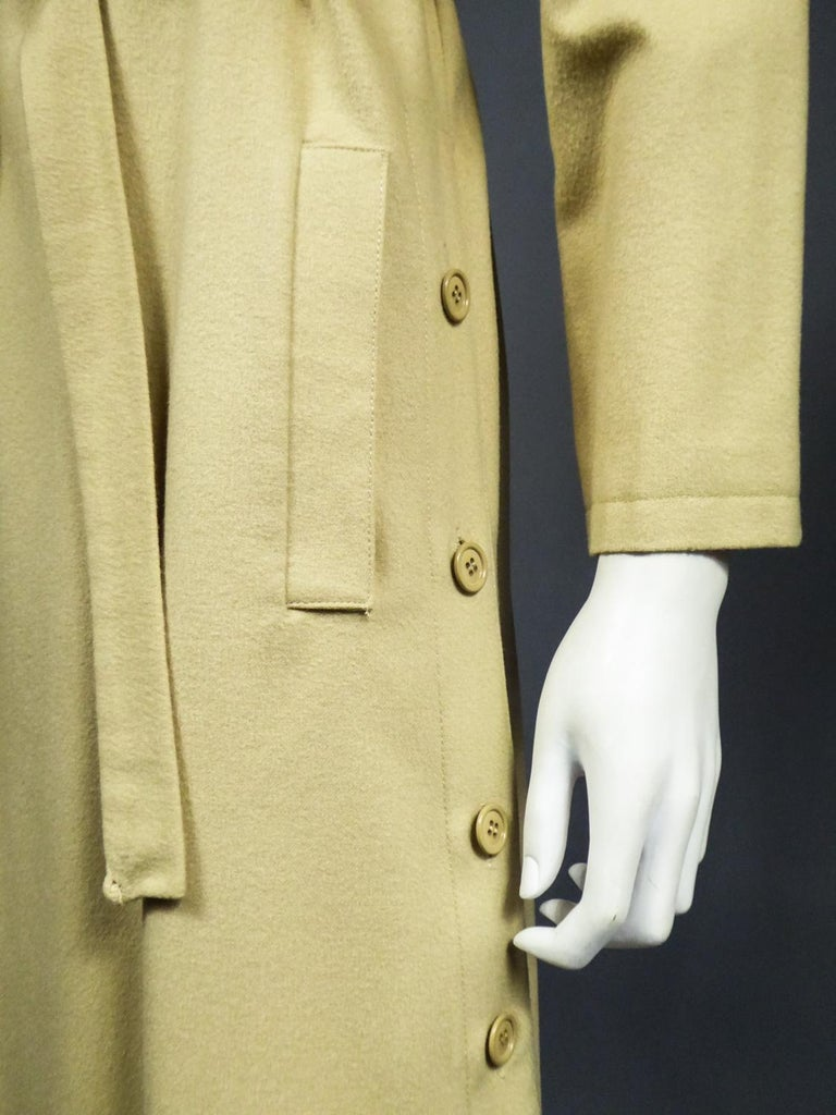 A Pierre Cardin Woollen Dress (attributed to) Circa 1980 For Sale 5
