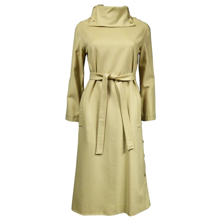A Pierre Cardin Woollen Dress (attributed to) Circa 1980 For Sale