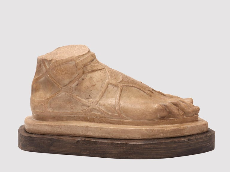 Plaster Cast a Roman Foot, Italy, 1880 In Excellent Condition For Sale In Milan, IT