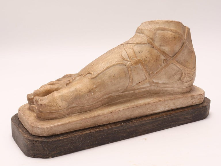 Late 19th Century Plaster Cast a Roman Foot, Italy, 1880 For Sale