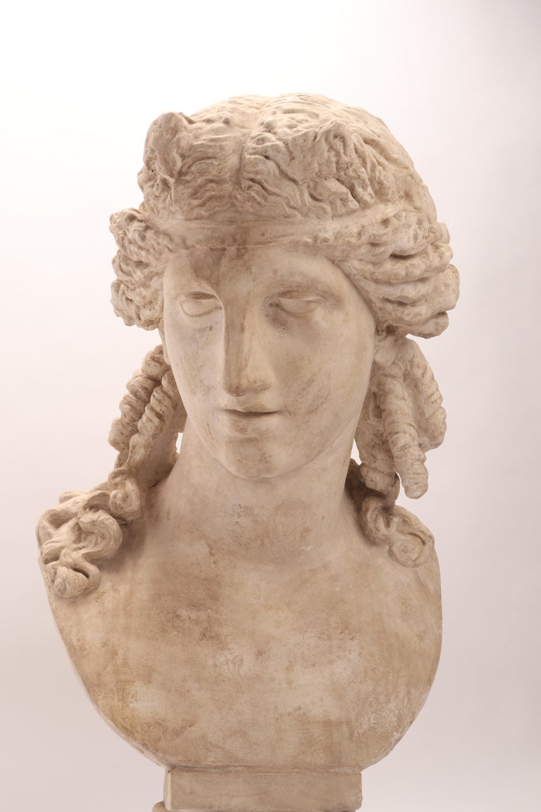 Italian Plaster Cast the Head of Arianna, Italy, 1890 For Sale